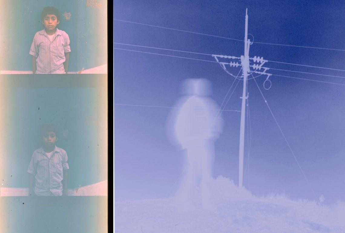 Guatemala Boy in fog+faded boy